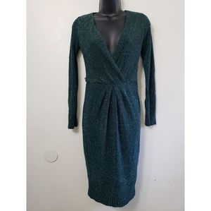 Charlotte russe green bodycon sexy V-neck dress